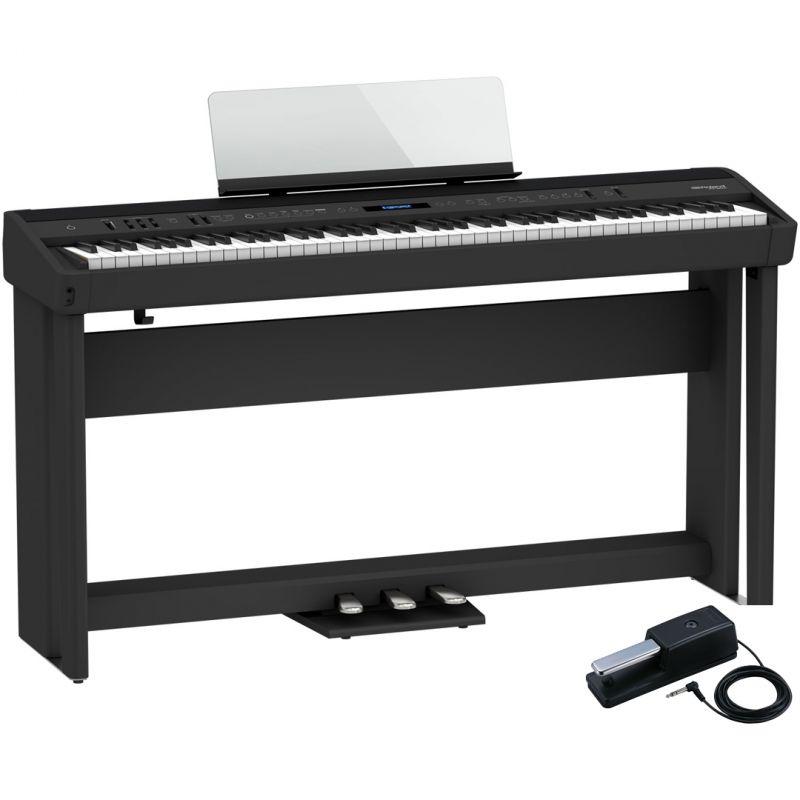 Roland FP-90X Nero Pianoforte Digitale Portatile 88 Tasti con Stand e Pedaliera