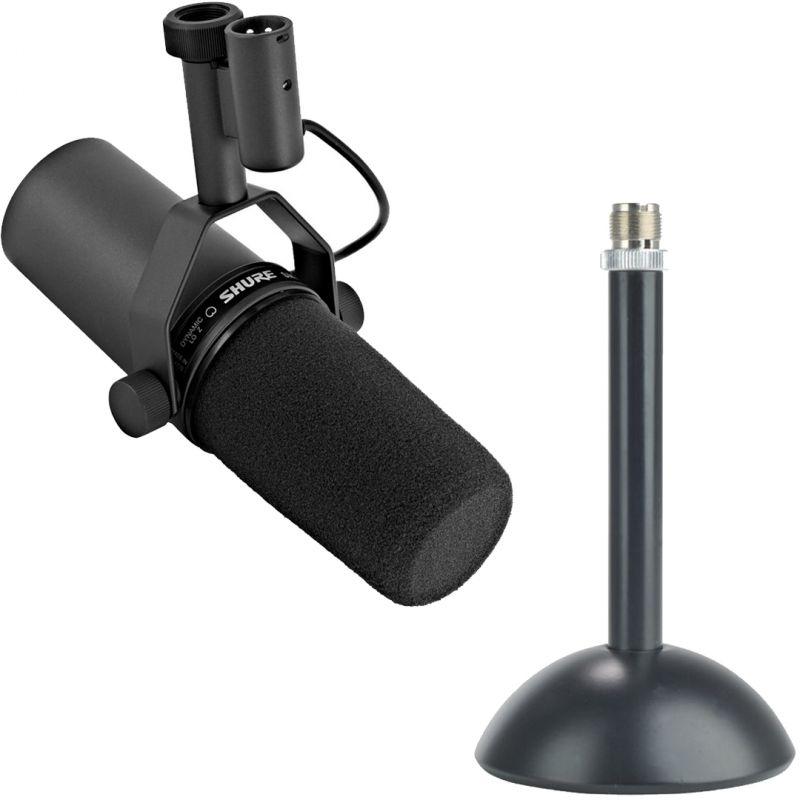 Shure SM7B Microfono da Studio con Base Microfonica da Tavolo