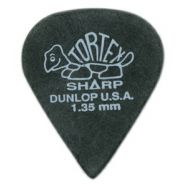 DUNLOP 412P - 12 Plettri Tortex 'SHARP' Black 1.35mm
