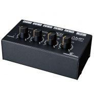 SOUNDSATION POCKET AMP mini amplificatore con preamp noiseless per cuffie a 4 canali
