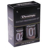 Dunlop 6502 Kit Pulizia Tastiera Chitarra basso Olio naturale per legno panno