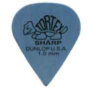 DUNLOP 412P - 12 PLETTRI TORTEX 'SHARP' BLUE 1.0mm