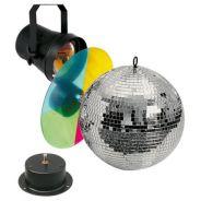 Showtec Mirrorballset 20 Cm Kit Sfera palla a specchi DJ discoteca da 20cm