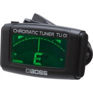 BOSS TU01 Clip-On Tuner Accordatore per chitarra elettrica, basso e ukulele