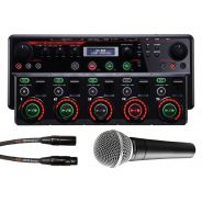 Boss RC505 Loop Station, Microfono Shure SM58, Cavo Microfonico
