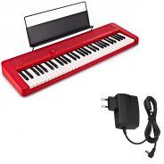 Casio CT-S1 RD Tastiera Portatile 61 Tasti Midi Usb Bluetooth Rossa