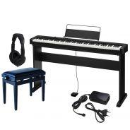 Casio CDP S100 Set - Pianoforte Digitale con Stand Panchetta e Cuffie