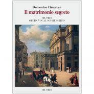 Domenico Cimarosa Ricordi Il Matrimonio Segreto Ed. Tradizionale