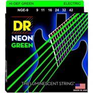 Dr NGE9 Neon Green Muta Chitarra Elettrica Verde Luminescente 009-042