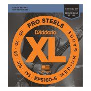 D'ADDARIO EPS160-5 - Muta per Basso Elettrico 5 Corde Pro Steels Medium (050/135)