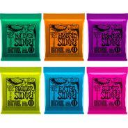 Ernie Ball Set di 6 Diverse Mute Slinky per Chitarra Elettrica