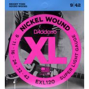 D'Addario EXL120 Cordiera Muta Corde per Chitarra Elettrica (009-042)