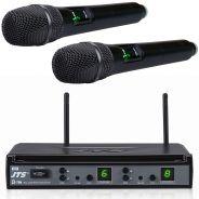 JTS E-7DU/E-7THD Radiomicrofono UHF Doppio Gelato Palmare 16 Canali Wireless