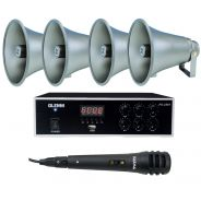 Karma KIT PA2361 Kit Amplificatore PA 2361 - 4 Trombe TC 15P - 1 Microfono DM520