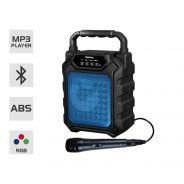 Karma HPS 44B Cassa Amplificata e Microfono Portatile Ricaricabile Bluetooth Blu
