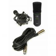 Mackie EM-91C Microfono Vocale a Condensatore per Voce Podcast con Supporto e Cavo