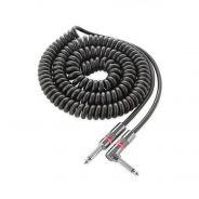 Monster Cable CLAS-I-21AC Cavo a Spirale per Strumento Jack Dritto/Angolato Nero