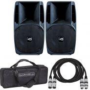 Montarbo NM350A (Coppia Set) Casse Attive Amplificati Diffusori Karaoke DJ