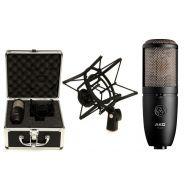 Akg P420 Microfono a Condensatore Podcasting Studio di Registrazione con Case