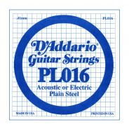 D'ADDARIO PL016 - Singola per Acustica o Elettrica Plain Steel (016)
