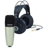 SAMSON C01/SR850 - Bundle Microfono a Condensatore Cardioide + Cuffie semi-open