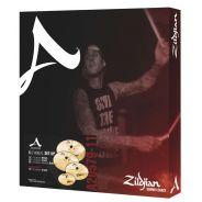 Zildjian 5 A Custom 390 - Set di Piatti per Batteria