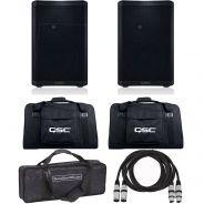 QSC CP8 (Coppia) Cassa Attiva Biamplificata 1000W / Borse / Cavi