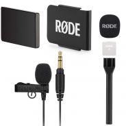 Rode Lavalier GO Bundle Microfono Lavalier con Sistema Clip e Adattatore Palmare