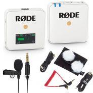 Rode Wireless GO Bianco Bundle Microfono Wireless con Lavalier GO