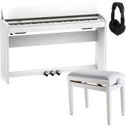 Roland F701 Bianco Piano Digitale 88 Tasti con Panchetta e Cuffia