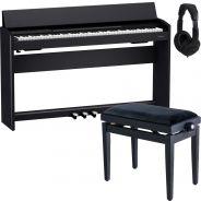 Roland F701 Nero Piano Digitale 88 Tasti con Panchetta e Cuffia