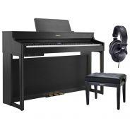 Roland HP702 Charcoal Black Home Set - Pianoforte Digitale con Panca e Cuffie
