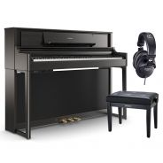 Roland LX705 Charcoal Black Home Set - Pianoforte Digitale con Panca e Cuffie