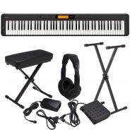 Casio CDP S350 Set - Pianoforte Digitale con Supporto Panca e Cuffie