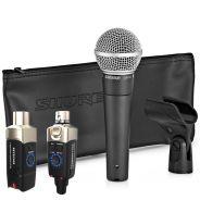 Shure SM58 con Adattatore Wireless per Microfoni Dinamici XVive U3