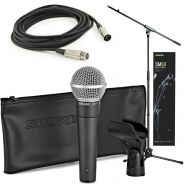 Shure SM58 Quality Bundle Microfono con Cavo XLR e Asta a Giraffa