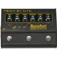 Tech 21 SansAmp Programmable Bass Driver DI Preamp a Pedale per Basso