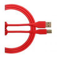 Udg U96001RD Cavo USB 2.0 C-B Dritto Rosso 1.5mt
