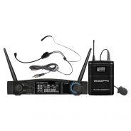 ZZIPP TXZZ541 Set Radiomicrofono ad Archetto UHF 48 Canali Wireless Dj Karaoke