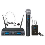 ZZIPP TXZZ622 Radiomicrofono, Microfono Wireless Gelato e Archetto Karaoke DJ