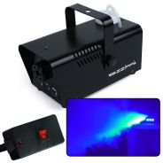 ZZIPP ZZFM400B Macchina Fumo LED blu nebbia DJ telecomando a filo