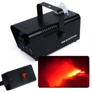 ZZIPP ZZFM400R Macchina Fumo LED Rosso nebbia DJ telecomando a filo