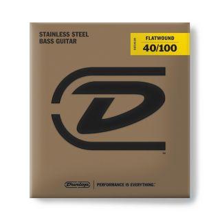 0 Dunlop - DBFS40100 Flatwound Light Scala lunga Set/4