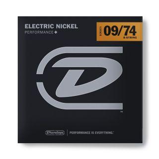 0 Dunlop - DEN0974 Nickel Plated Steel, Hybrid Extra Light, Set/8