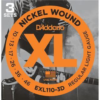 0-D'ADDARIO EXL110-3D PACK