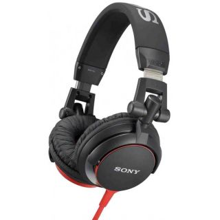 0-SONY MDR-V55 BLACK/RED -