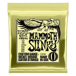 0 Ernie Ball - 2214 Nickel Wound Mammoth Slinky 12-62