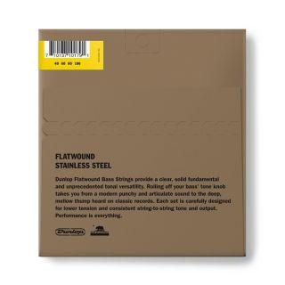 1 Dunlop - DBFS40100 Flatwound Light Scala lunga Set/4