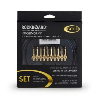 1 Rockboard - RBO CAB PW SET GD PatchWorks Solderless Patch Cable Set Gold