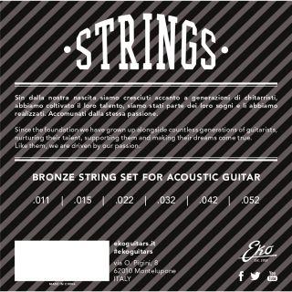 1 Eko - Acoustic Guitar String 11-52 set